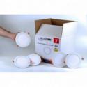 Pack 5 Focos LED Extraplanos Redondos 17cm Luz Neutra