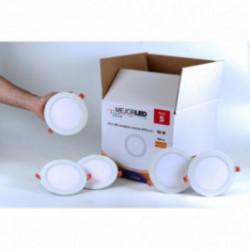 Pack 5 Focos LED Extraplanos Redondos 17cm Luz Cálida