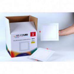 Pack 2 Focos LED Extraplanos Cuadrados 22,5cm Luz Neutra