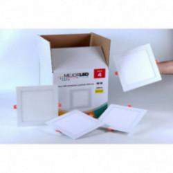 Pack 4 Focos LED Extraplanos Cuadrados 22,5cm Luz Neutra