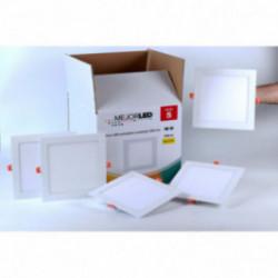Pack 5 Focos LED Extraplanos Cuadrados 22,5cm Luz Neutra