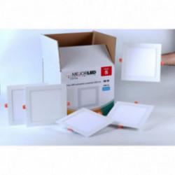 Pack 5 Focos LED Extraplanos Cuadrados 22,5cm Luz Fría